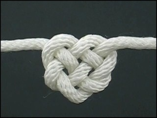 Tieing the knot Heart Knot #heart #rope #knot