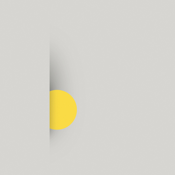 //// #flat #circle #geometry #abstraction #yellow #type #shadow