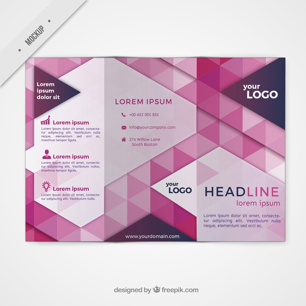 Trifold mockup in modern style Free Psd. See more inspiration related to Brochure, Flyer, Mockup, Business, Abstract, Template, Geometric, Shapes, Leaflet, Text, Flyer template, Stationery, Corporate, Mock up, Company, Modern, Booklet, Polygonal, Information, Geometric shapes, Trifold, Triangles, Abstract shapes, Low poly, Style, Up, Geometrical, Stylish, Low, Mock and Geometrical shapes on Freepik.