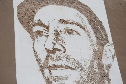"""Now is our time"" by Vhils #vhils"