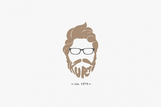 Logos on the Behance Network #logo #beard #face