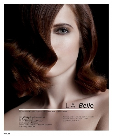 L.A Belle | Volt Café | by Volt Magazine #beauty #design #graphic #volt #photography #art #fashion #layout #magazine #typography
