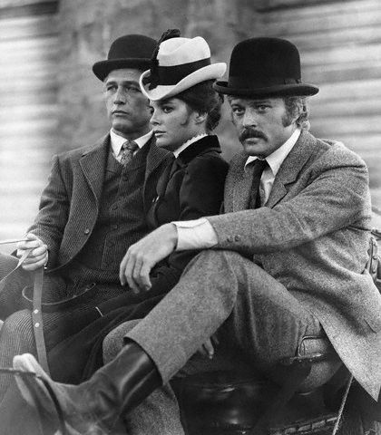 A Conversation On Cool. (On Set -Â Butch Cassidy and the Sundance Kid 1969) #still #photography #film