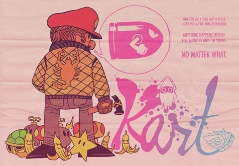 FFFFOUND! | MISTERHIPP: ANYTHING HAPPENS IN THAT FIVE MINUTES AND I'M YOURS. #mario #drive #kart