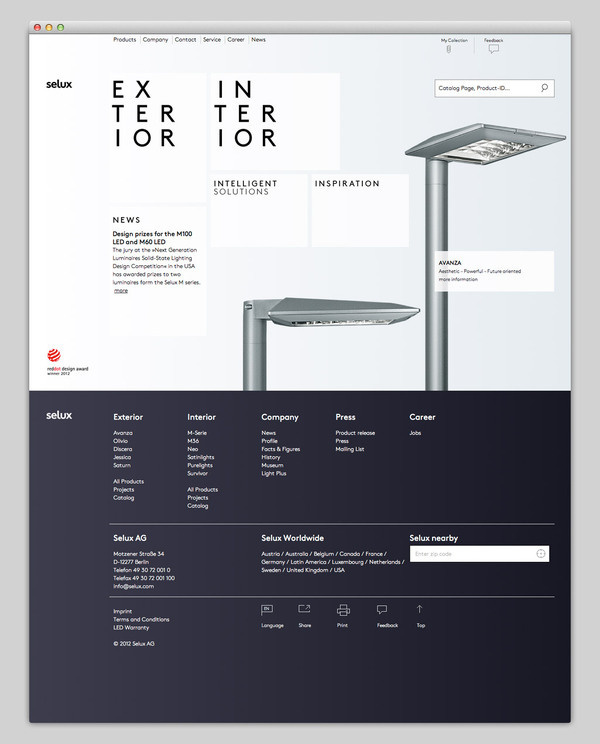 Selux #website #layout #design #web
