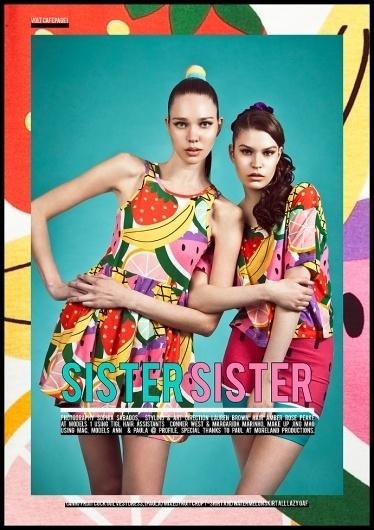 Sister Sister | Volt Café | by Volt Magazine #lazy #design #graphic #volt #oaf #photography #art #fashion #layout #magazine #typography