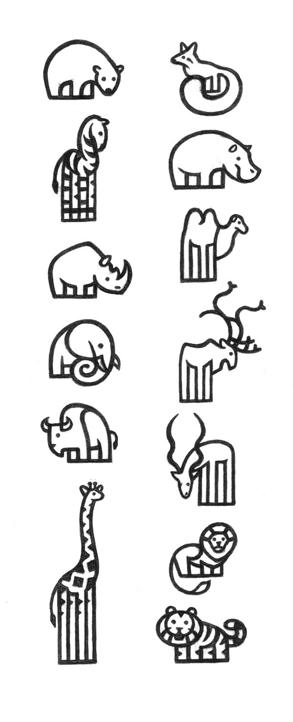 Pictograms ZOO on Behance #icons #geometrical
