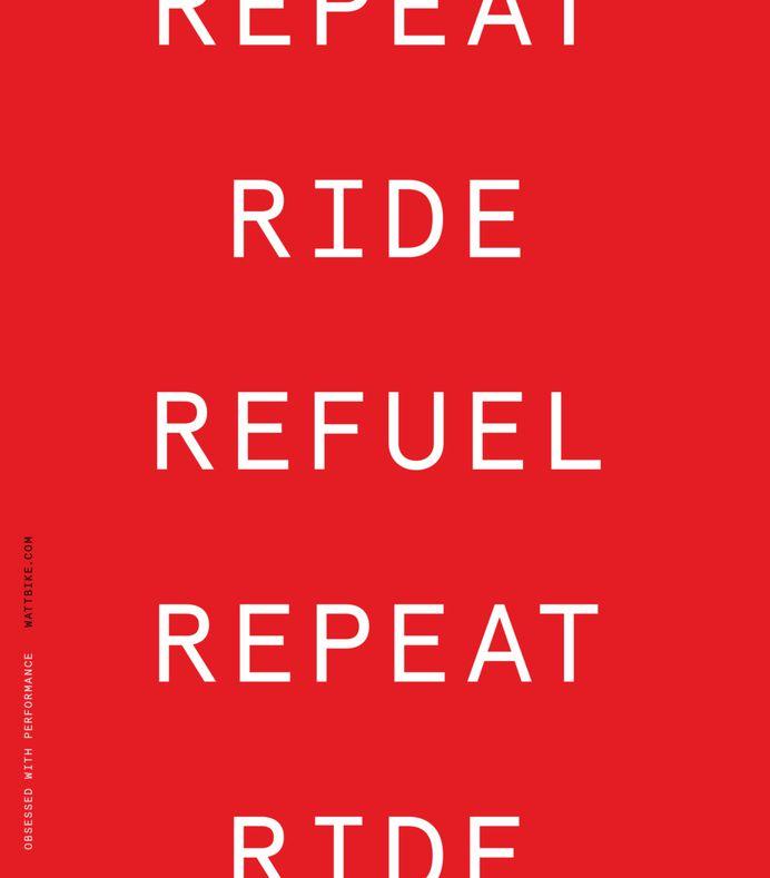 Wattbike poster by Onwards
