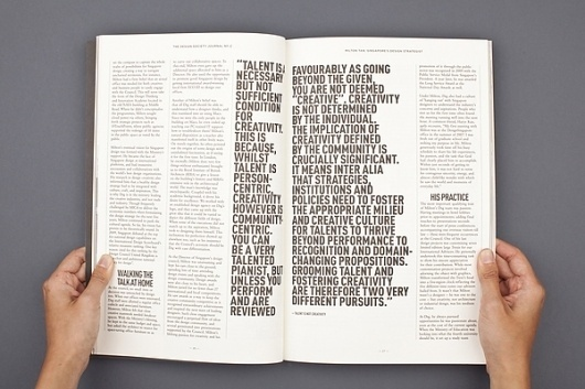 The Design Society Journal № 2 on the Behance Network #white #design #black #and #layout #editorial #magazine #typography