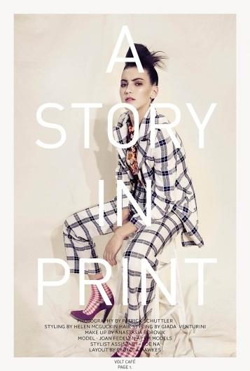 A story in print | Volt Café | by Volt Magazine #design #graphic #volt #photography #art #fashion #layout #magazine #typography