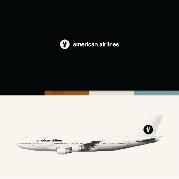 Experimental ID for American Airlines on the Behance Network #presentation #airlines #american #identity