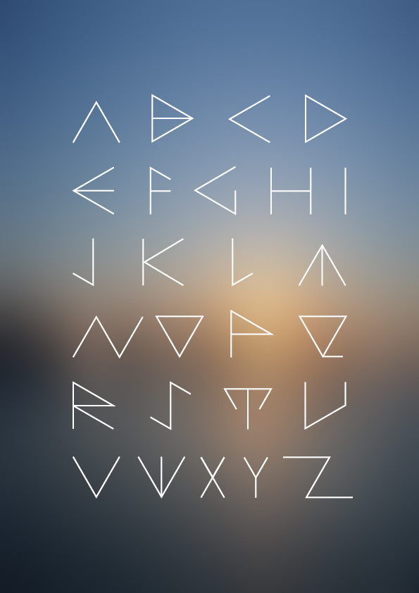 3/NGLE #font #lettering #logo #triangle #typeface #minimal #type #typo #typography