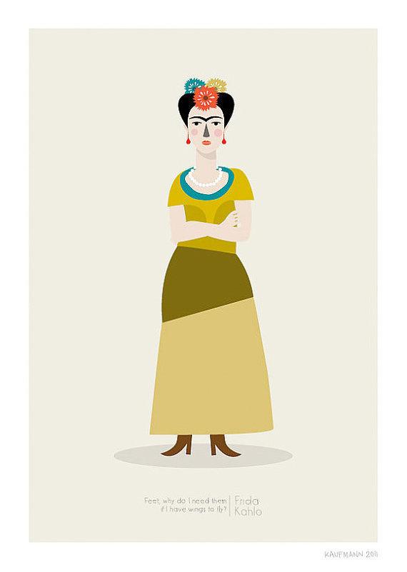 Frida Kahlo PrintDifferent Sizes #illustration #frida kahlo #etsy