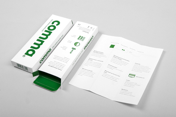 Comma on Behance #packaging