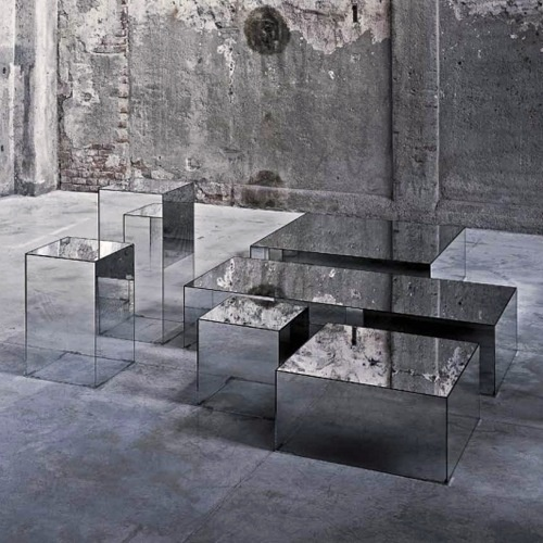 mirror cubes #interior #glass #mirror #cube