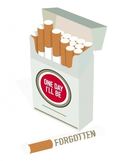 ANONYMOUS MAG #red #smoke #pattern #cigarettes #illustration #type #strike #lucky #typography
