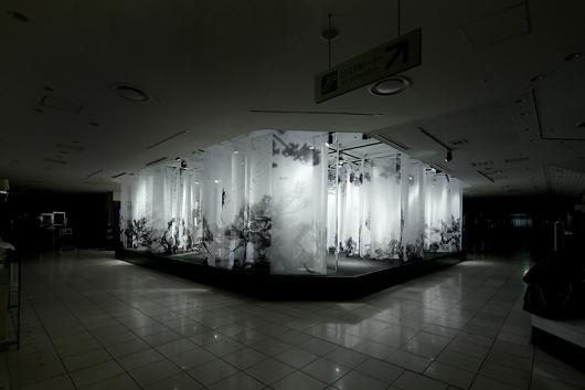 artless Inc.   news and portfolio : * installation & interior : ISETAN   the stage (new year 2011) #installation #kawakami #transparent #art #shun