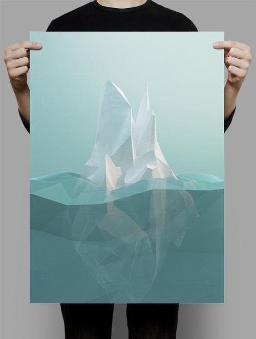 Iceberg #iceberg #illustration #poster