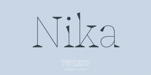 Nika - Webfont & Desktop font « MyFonts #font #design #typecaste #nika #vance #type #arlo