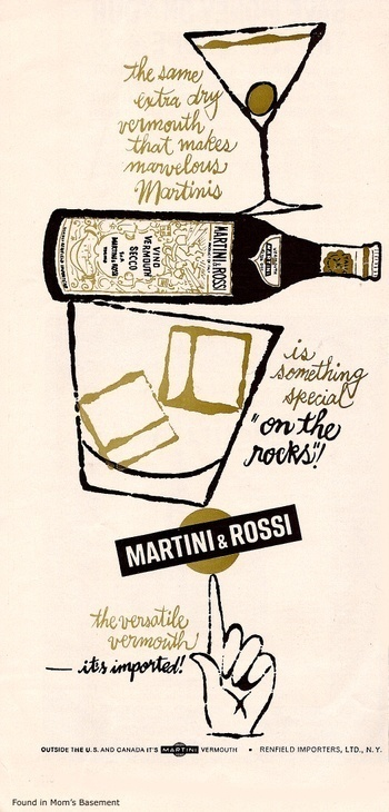 Martini & Rossi vintage ad #lettering #60s #advertising #vintage #pen #hand
