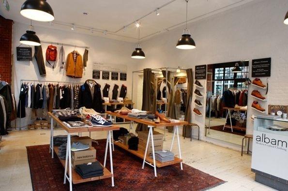 Albam Spitalfields 111A, Commercial Street, London. #clothing #london #concept #hipshops #merchandise #retail #fashion