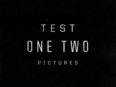 Test One Two Leftover 02 #logo