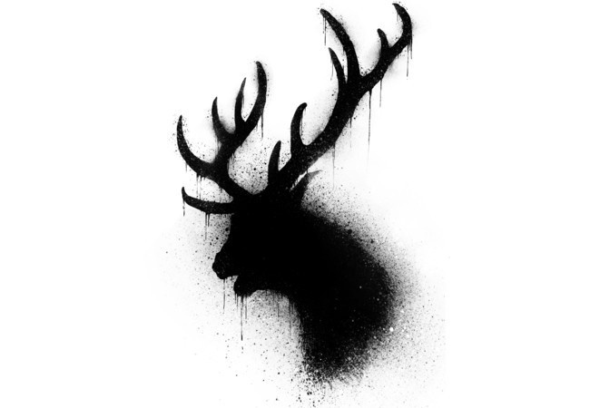Dark deer #abstract #deer #illustration #art #dark #animal