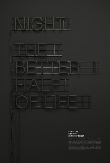 Beautiful Neon Typography by Rizon Parein | Abduzeedo | Graphic Design Inspiration and Photoshop Tutorials #typography #poster #neon #typo