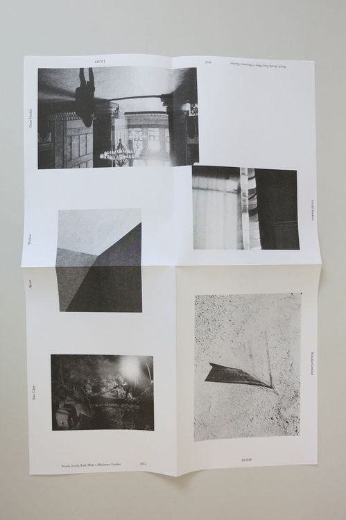 LIGHT is a collection of 6 A3 posters folded down into an A5 booklet. 4 (b/w) were printed in Oslo, Norway by NSEW on their Risograph and 2 #collaboration #poster