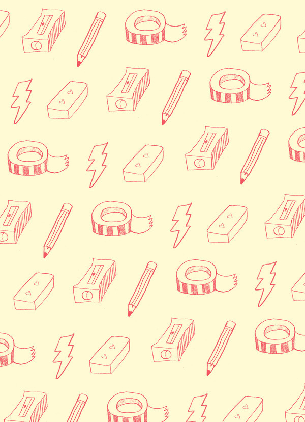 Angie Garland #pattern #stationary #drawn #pencils #hand
