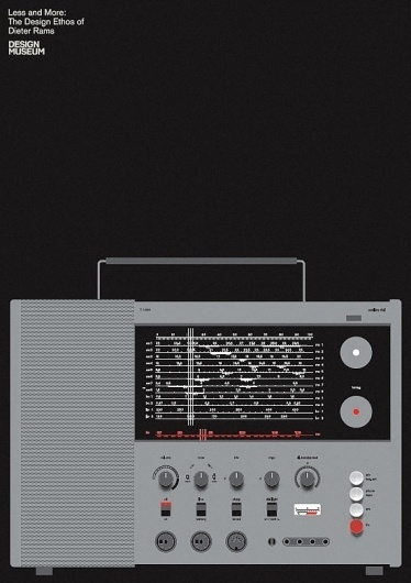 Less and More: Dieter Rams | Bibliothèque Design #lessmore #dieter #rams #poster