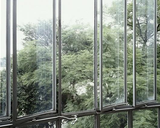 Marc Foxx - Artists - LUISA LAMBRI - Luisa Lambri at Marc Foxx Gallery, Los Angeles #green #interiors #architecture #windows #facades