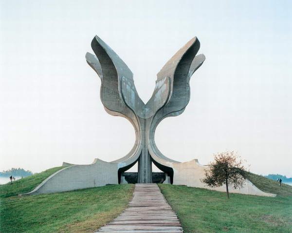 yugoslav monument #concrete #monument #yugoslavia