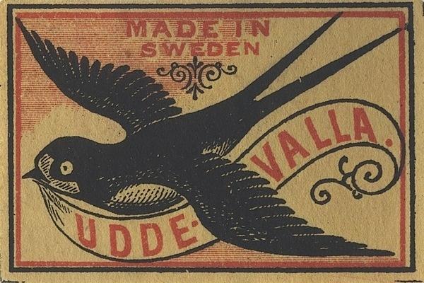 0_47414_d63c6971_orig.jpg (750×500) #sweden #packaging #birds #illustration #swallow #matches #vintage