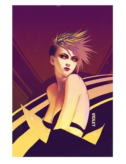 Tear Away Hearts on Illustration Served #halftone #punk #illustration #glam #female