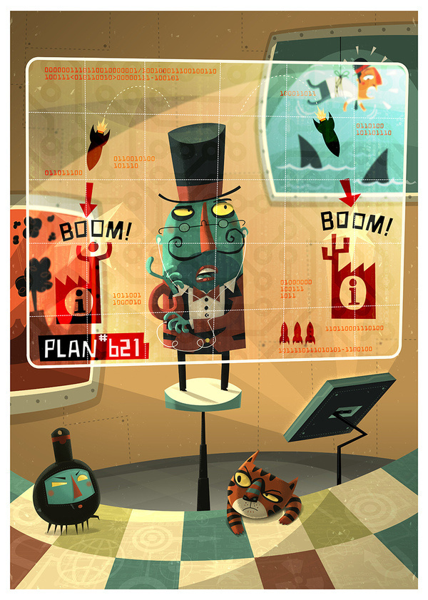 Evil Genius - The Extraordinaires #steve #simpson #illustration #genius #evil
