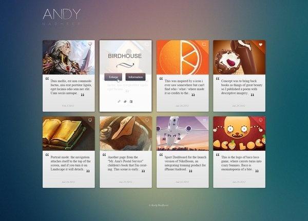 Interesting and simple portfolio presentation. #site #portfolio #design #ui #web