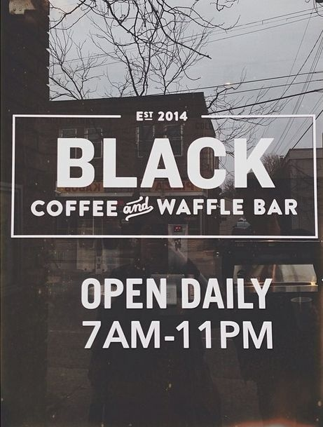 Trading Hours and Logo Decals | Coffee Shops