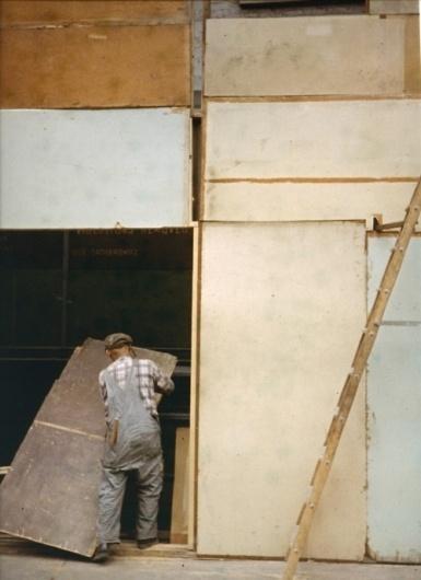 s-c-r-a-p-b-o-o-k (Saul Leiter - Mondrian Worker, 1954) #square