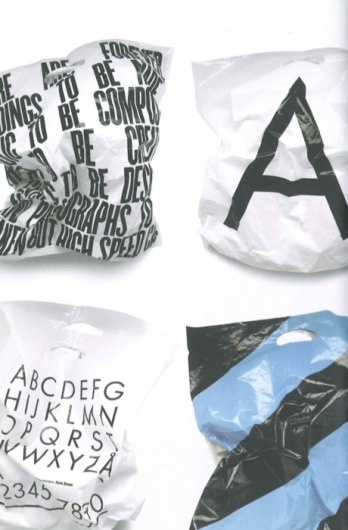 GM. #font #typeface #bags #type #plastic #typography