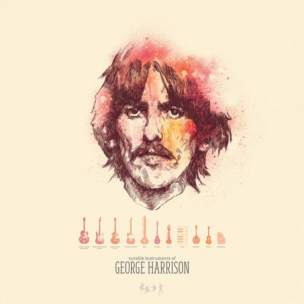 georgeharrison full #illustrated #people