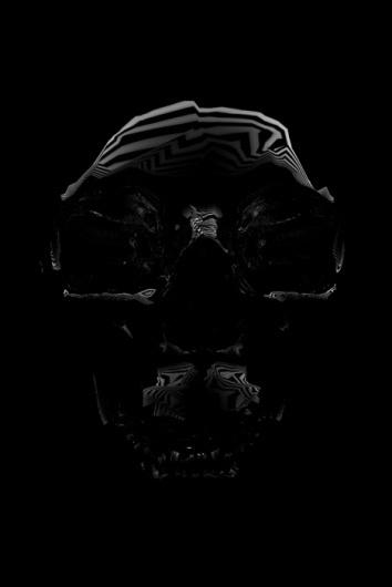 Inspiration | Jordan Lloyd #lines #skull #dark