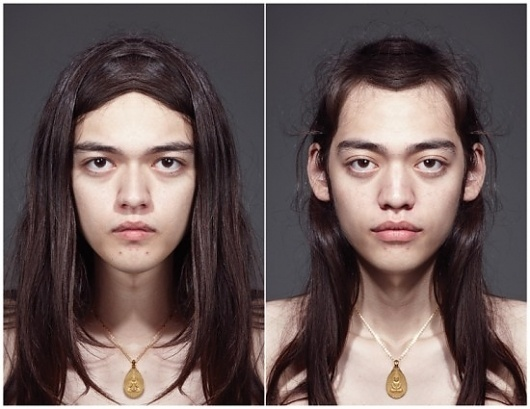 Symmetrical Portraits   Fubiz ™ #portraits #symmetrical