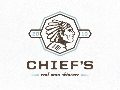 Chief's Skincare logo by Tim Boelaars #logo #indian #identity