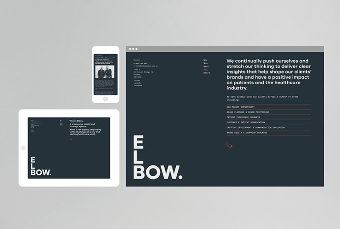 Elbow by Christopher Doyle & Co. #logo #mark #typography #web design #website