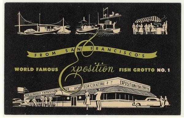 All sizes | San Francisco Exposition Fish Grotto No. 1 | Flickr - Photo Sharing! #script #fish #san #illustration #francisco #type #grotto