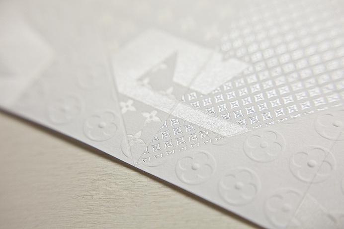 Louis Vuitton — Invitation Origami #emboss #print #texture