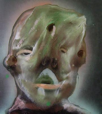 (...) #alien #human #paint #portrait #face