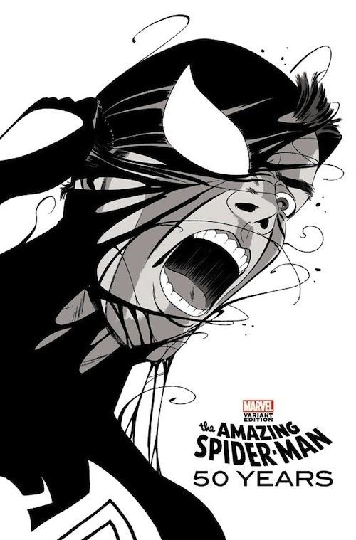 For Spider Man's 50th Anniversary, Comic Book Artist Creates Covers For Issue DesignTAXI.com #venom #spiderman #cover #art #comics