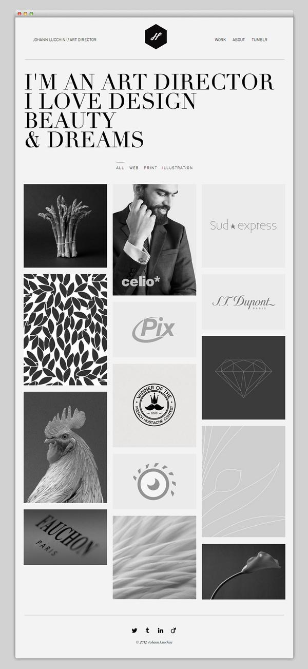 Johann Lucchini #website #layout #design #web